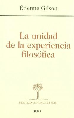 La unidad de la experiencia filosófica