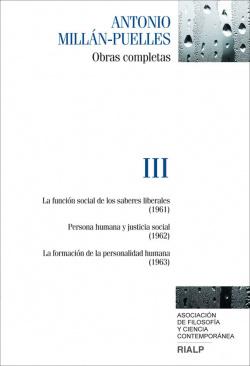 Obras completas de Antonio Millán-Puelles. Vol. III