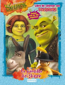 Shrek 4. libro de colorear con pegatinas
