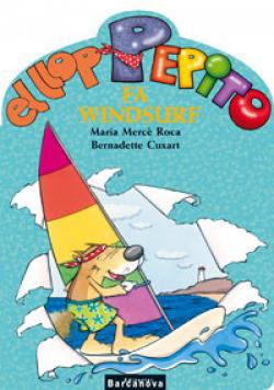 El llop Pepito fa windsurf