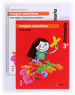 (14).LENGUA CASTELLANA 3R.PRIM.*CATALUNYA*(CONSTRUIM)./PACK