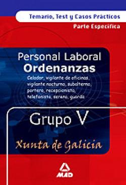 Ordenanzas xunta de galicia grupo v temario, test y casos prácticos