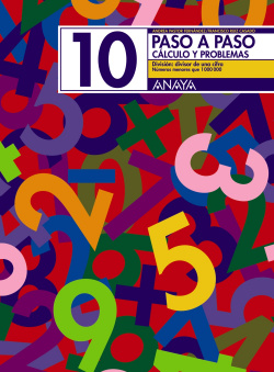 PASO A PASO 10:DIVISION POR UNA CIFRA II