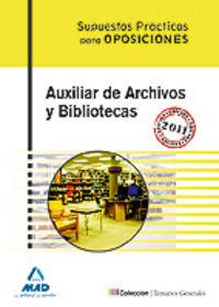 Auxiliar de archivos biblioteca