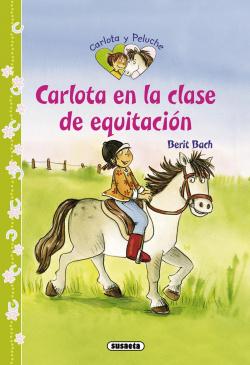 Carlota en la clase de equitación