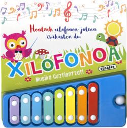 Hontzak xilofonoa jotzen irakasten du