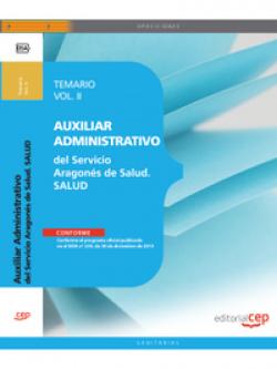Auxiliar Administrativo Servicio Aragones Salud SALUD II