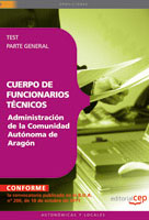 Cuerpo Funcionarios Tecnicos Administracion Comunidad Autonoma Aragon Test Parte General