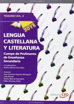 II.Lengua castellana y literatura cuerpo de profesores de Enseñanza Secundaria