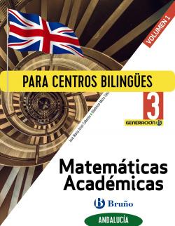 Generación B Matemáticas Académicas 3 ESO Andalucía 3 volúmenes