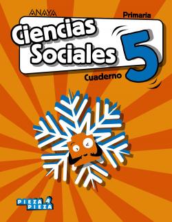 CUADERNO CIENCIAS SOCIALES 5ºPRIMARIA. PIEZA A PIEZA. CANTABRIA, CASTILLA LA MANCHA, CEUTA, LA RIOJA, MELILLA, NAVARRA