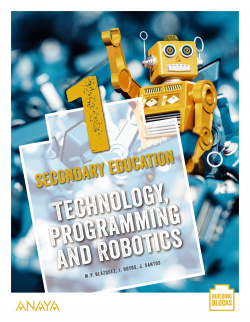Technology, Programming and Robotics 1. Student's Book