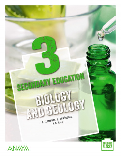 BIOLOGYA AND GEOLOGY 3ºESO. STUDENT'S BOOK. BUILDING BLOCKS