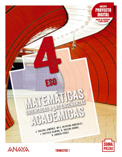 Matemáticas orientadas a las Enseñanzas Académicas 4.