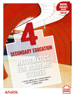 Mathematics for Academic Studies 4. Student's Book