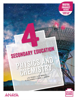 Physics and Chemistry 4. Student's Book