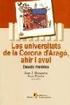 Les universitats de la corona d'Aragó, ahir i avui