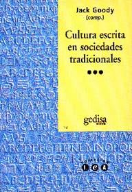 Cultura Escrita En Sociedades Tradicionales
