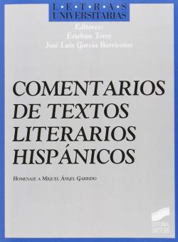 COMENTARIOS DE TEXTOS LITERARIO HISPANICOS