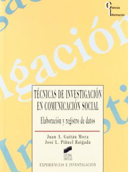 TECNICAS DE INVESTIGACION EN COMUNICACION SOCIAL -
