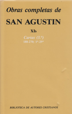 Obras completas de San Agustín.XIb: Cartas (3.º): 188-270