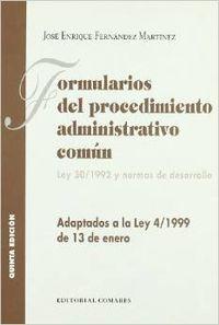 Formularios del procedimiento administrativo comun