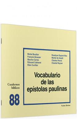 88.Vocabulario epistolas paulinas.(Cuadernos Biblicos)