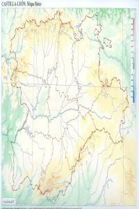 Paq/50 mapas castilla-leon fisico mudos
