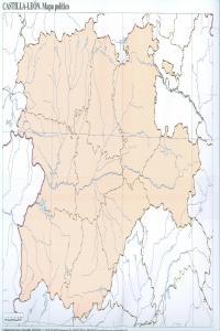 Paq/50 mapas castilla-leon politico mudos