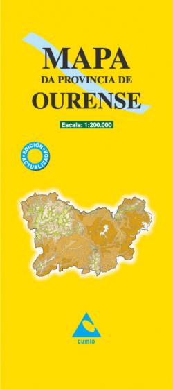 Mapa da provincia de Ourense