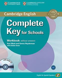 (14).COMPLETE KEY FOR SCHOOL (WB-KEY+CD) SPANISH SPEAKERS