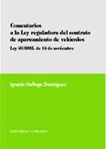 Comentarios a la ley reguladora del contrato de aparcamiento de vehiculos