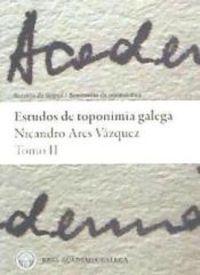Estudos de toponimia galega Tomo II