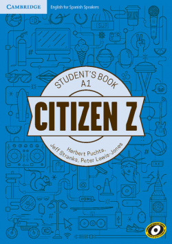 Citizen Z Starter A1 Student's Book with Augmented Reality 2017