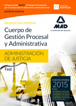 Cuerpo gestión procesal y administrativa.test
