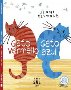 Gato vermello gato azul