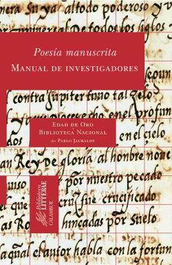 Poesía manuscrita:manual de investigadores
