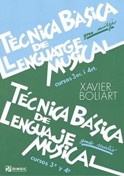 TÈCNICA BASICA DE LLENGUATGE MUSICAL 3R-4T