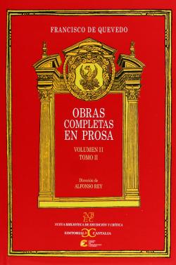 QUEVEDO: OBRAS COMP. 2-2 PROSA