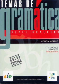 TEMAS DE GRAMATICA.(SUPERIOR) (+CLAVE)
