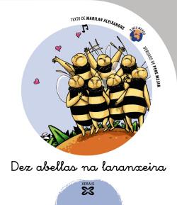 Dez abellas na laranxeira