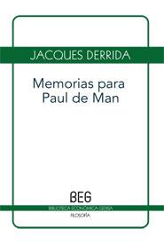 Memorias Para Paul De Man (Beg)