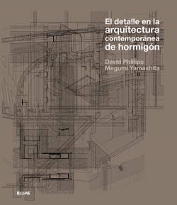 Detalle arquitectura contemporánea de hormigón