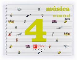 ANT/(G).(08).MUSICA 4º.PRIM.-EN CLAVE DE SOL-*GALEGO*