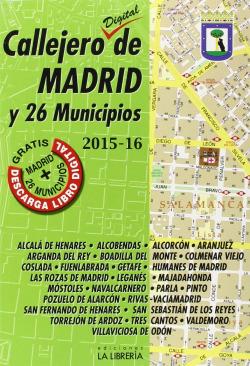 Callejero de Madrid y 26 municipios 2015-2016
