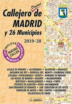 CALLEJERO DE MADRID Y 26 MUNICIPIOS 2019-20