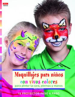 Maquillajes para niños con vivos colores