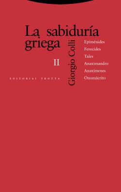 La sabidur¡a griega II