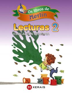 (G).(13).OS LIBROS DE MERLIN 2º.PRIM.*LECTURAS GALEGO*