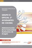 Oficial 2ª Ayudantes Cocina Administracion Comunidad Autonoma Aragon Materias Especificas